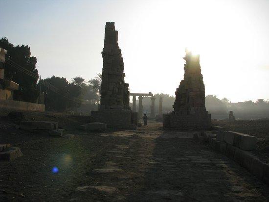 Medamud Temple:                                     Temple of Montu in Medamud, early morning