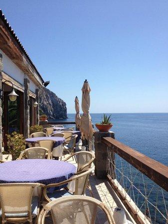 Hotel Scannella:                   Terrazza ristorante