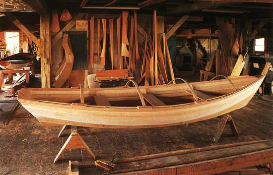 Lowell's Boat Shop: Boat in Progress