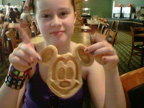 Rosen Inn at Pointe Orlando:                   Daughter enjoyed making Mickey Mouse Waffles