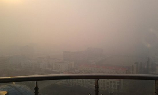 Ramada Plaza Sino Bay Shanghai:                                     The smog was especially here as the hotel is in the chemical