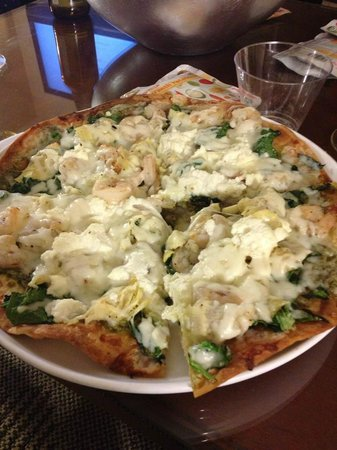 Renaissance Los Angeles Airport Hotel:                   cheese shrimp artichoke heart flatbread - amazing!