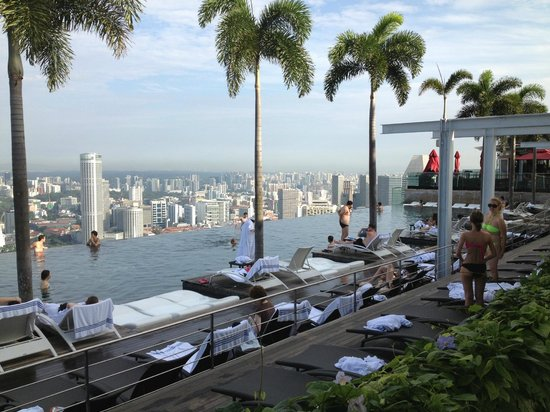 Marina Bay Sands: great swimming pool