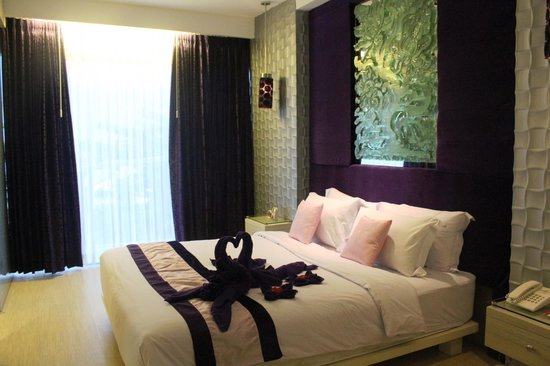 Grand Mega Resort & Spa Bali:                   Room with honeymoon decorations!