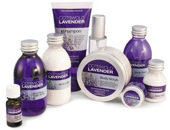 Cotswold Lavender : a selection of the products made from the lavender oil