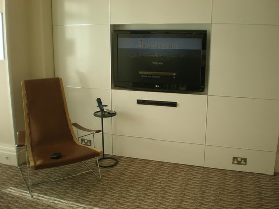 The Athenaeum Hotel & Residences:                   massive TV