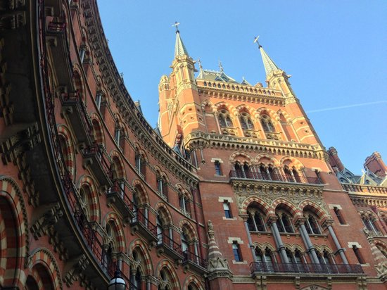 St. Pancras Renaissance Hotel London:                   The iconic Gilbert Scott exterior