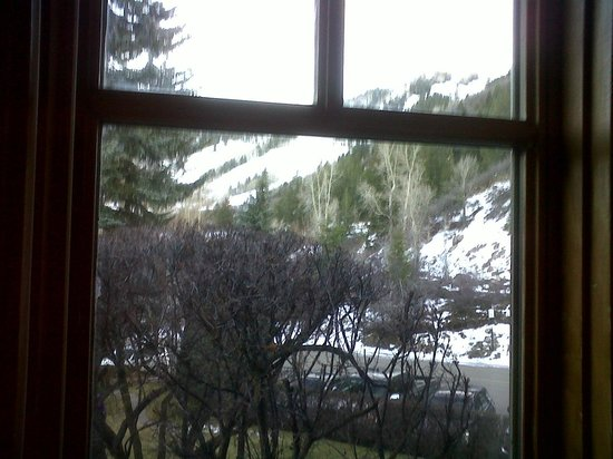 St. Moritz Lodge & Condominiums:                   Large bay window overlooking pool and Aspen Mountain