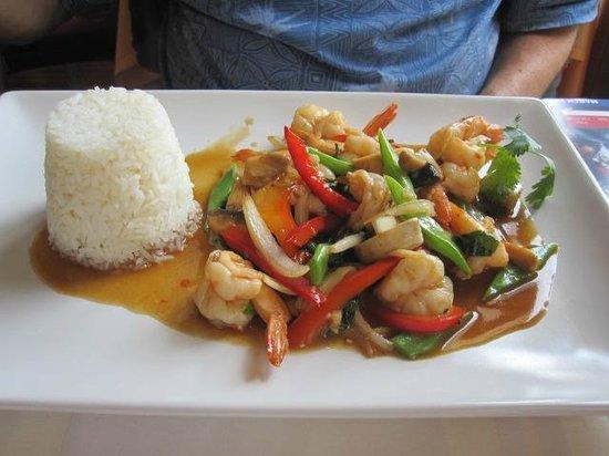 Lan Sang : shrimp stir fry type dish