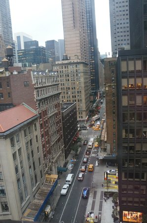 Ameritania Hotel:                   Great view from up high. Broadway below with 54th running from bottom to top.