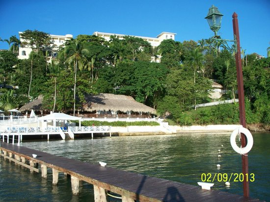 Grand Bahia Principe Cayacoa:                   View from the lagoon dock