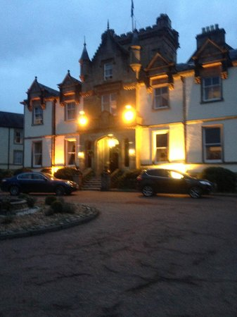 Cameron House on Loch Lomond:                   Hotel at night