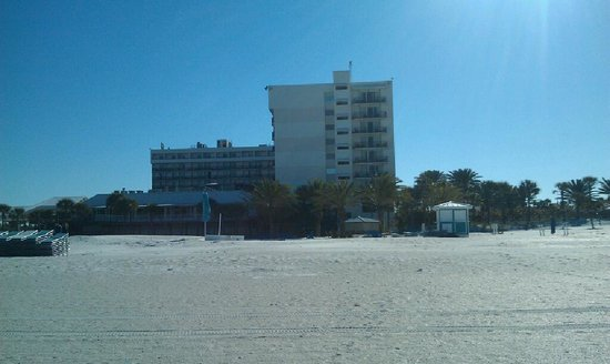 Hilton Clearwater Beach Resort & Spa:                   View of hotel from the beach