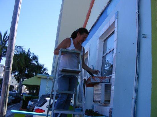 Angelfish Inn:                   Ever working hard Owner Karen. Keeps this place nice,