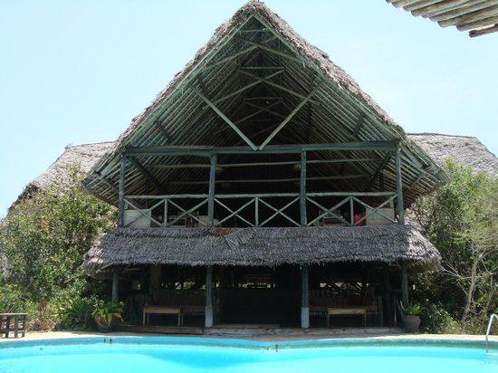 Lazy Lagoon: zona ristorante con piscina