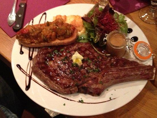 Lagrange : Côte de bœuf suggestion du soir ....