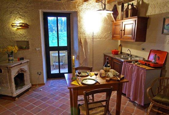 B&B Le Due Volpi: Kitchenette Room Brionvega