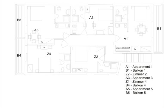 Ana Apartments and Rooms: Room's plan