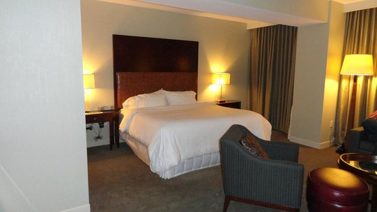Westin Reston Heights:                                     Bedroom and Partial Living Room Area