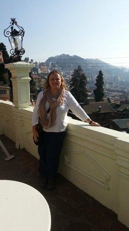 The Elgin, Darjeeling :                   View from hotel garden across Darj
