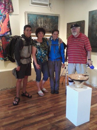 """Shenandoah Valley Artworks: The """"Walk Across America"""" couple just happened to be walking by so we invited them in."""