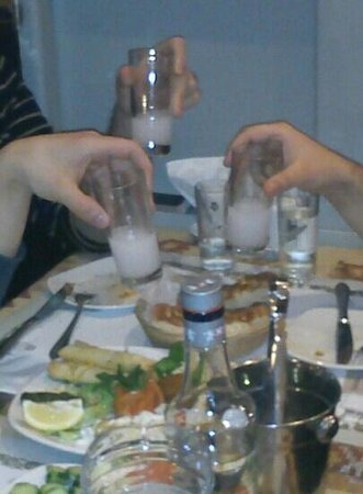 Anatolia Cuisine:                   You can drink RAKI only this Restaursnd like this.