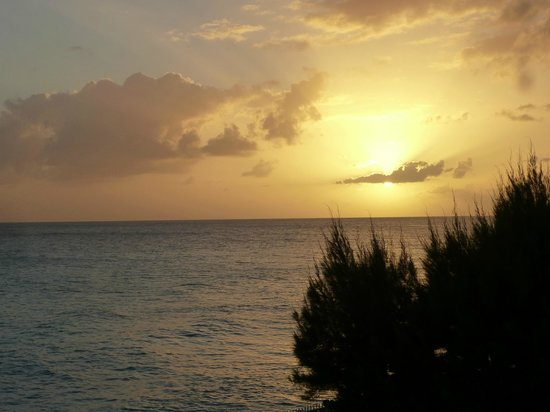 Dover Beach Hotel:                   sunset view from outside our room door