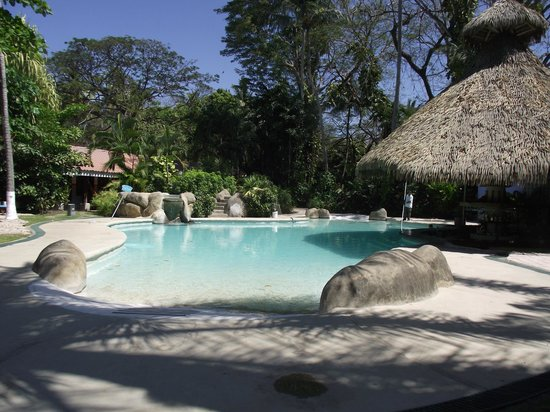 Bahia del Sol Beach Front Boutique Hotel:                   Pool with swim-up bar.  Jacuzzi on the side.