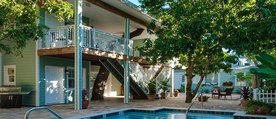 SeaGlass Inn Bed and Breakfast:                   Luxury comadations with a tree shaded balcony sitting
