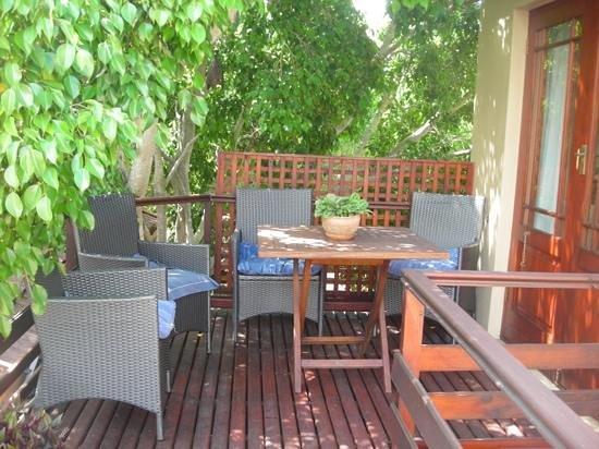 Treetops Guest House:                   Sun terrace in Treetops