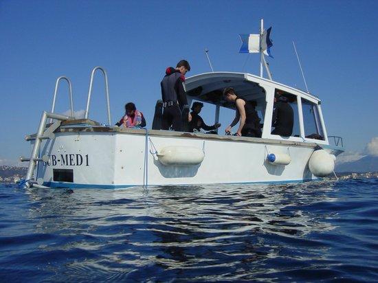 Bateau Sub Med, Easy Dive, Cap d'Antibes, Juan les Pins