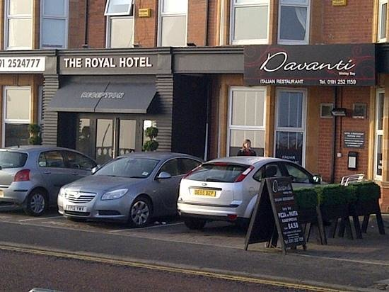 The Royal Hotel:                   outside parking