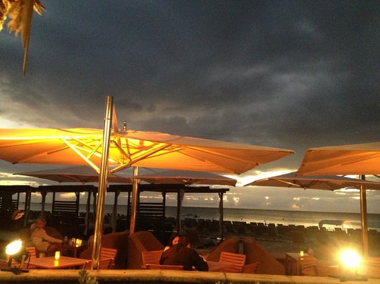 The Ritz-Carlton, Grand Cayman:                   Sunset by the pool