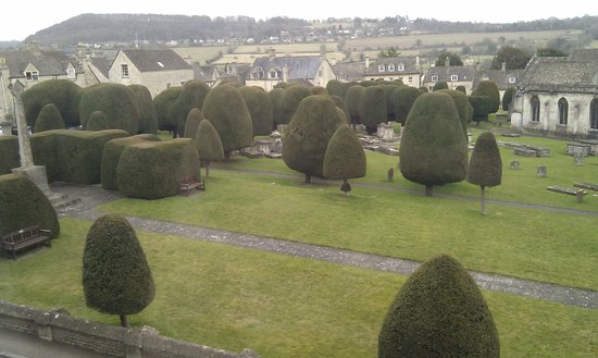 Falcon Inn:                   View from the room
