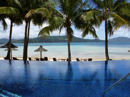Beach Club:                   beautiful infinity pool and beach beyond