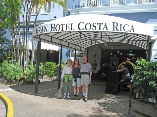 Gran Hotel Costa Rica:                   Entrance on the Plaza