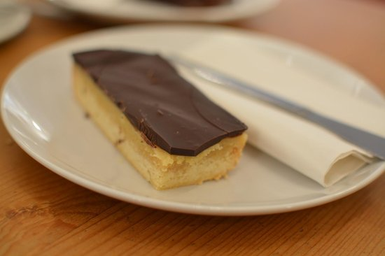 Box Brownie Coffee:                   Millionaires' shortbread
