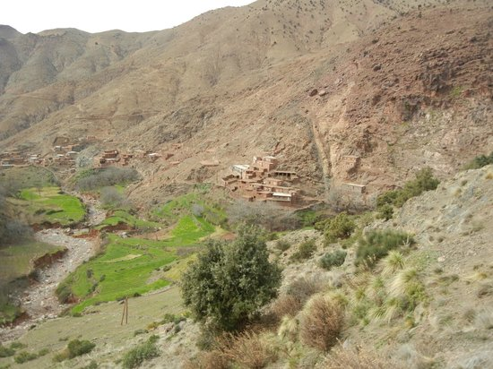 Hotel Riad Beldi :                   hameau  du gîte dans la famille d'Omar