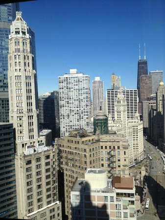 Hard Rock Hotel Chicago :                   View from room during the day