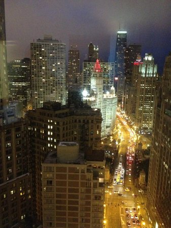 Hard Rock Hotel Chicago:                   View from room at night