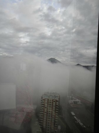 Santiago Marriott Hotel: the view! we were at a higher floor