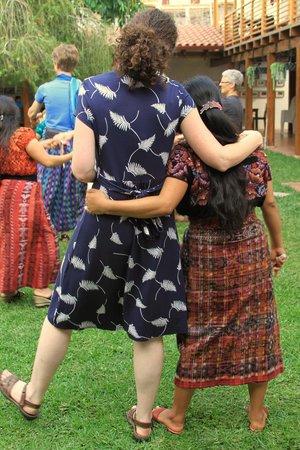 Thirteen Threads Fair Trade Store and Maya Women's Center: hugs!