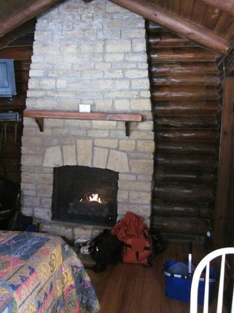 White Pines Inn:                   Cozy gas fireplace