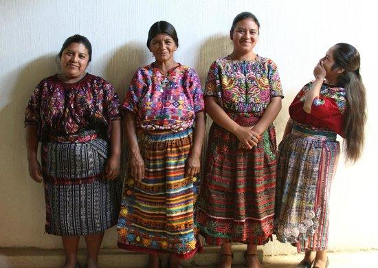 Thirteen Threads Fair Trade Store and Maya Women's Center: Rug hooking teacher students