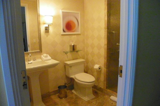 Trump International Hotel Las Vegas:                   Guest bathroom