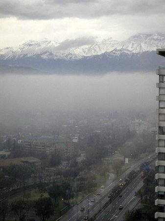 Santiago Marriott Hotel: the view from the executive level