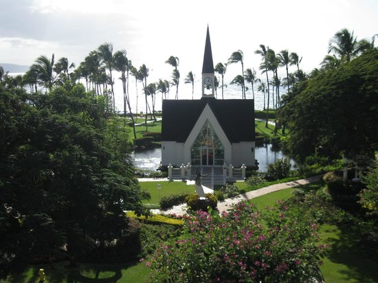 Grand Wailea - A Waldorf Astoria Resort:                   View of the Chapel located on grounds