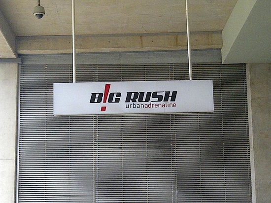 Big Rush Urban Adrenaline: SIgn at the entrance of B!G Rush HQ