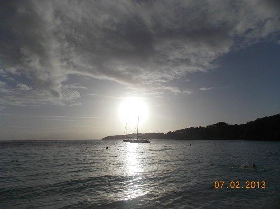 Club Med La Caravelle:                   atardecer