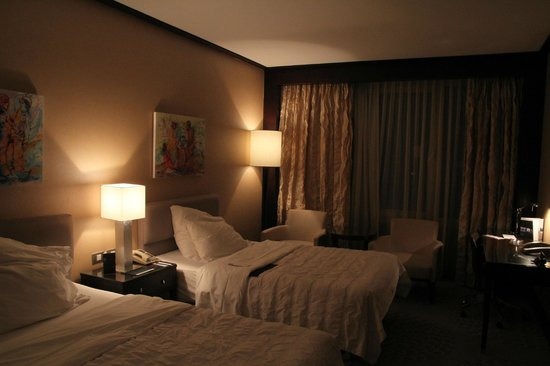 Le Meridien Pyramids Hotel & Spa:                                     Hotel Room & the Comfortable Beds !